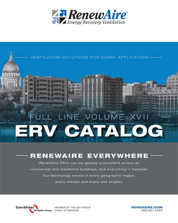 RenewAir Energy Recovery Ventilation System Catalog